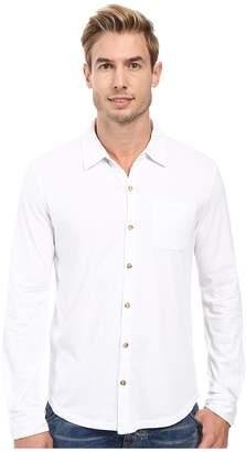 Mod-o-doc Summerland Knit Long Sleeve Jersey Button Front Shirt Men's Long Sleeve Button Up