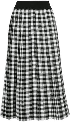 Le Ciel Bleu gingham pleated skirt