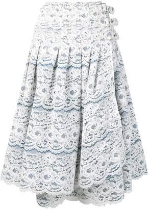 Junya Watanabe side-buckle lace skirt