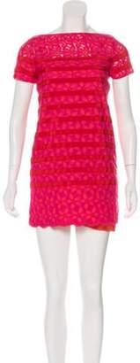 Sacai Luck Striped Lace Dress fuchsia Luck Striped Lace Dress