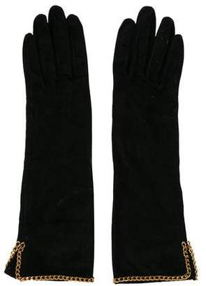 Chanel Chain-Link Gloves