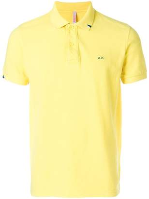 Sun 68 collar detail polo shirt