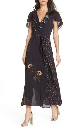 French Connection Mahi Fluid Maxi Wrap Dress