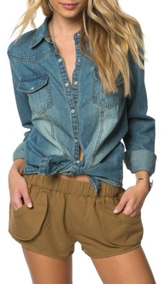 Women's O'Neill July Embroidered Denim Shirt $64 thestylecure.com