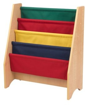Kid Kraft Sling bookshelf - Primary & Natural
