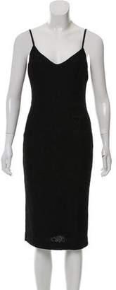 St. John Metallic Knit Dress