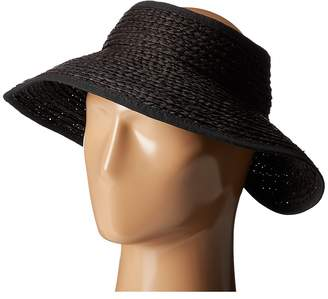 San Diego Hat Company RHV1505 Raffia Roll Up Visor with Velcro Closure Casual Visor