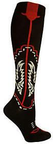 Ozone Design Set of 2 Cowboy Boots Socks