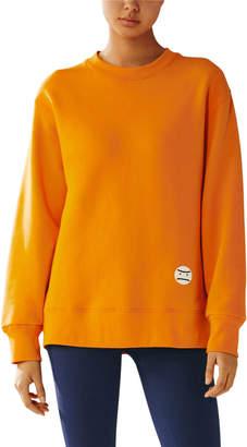 Tory Sport Grumps French Terry Oversized Cotton Sweatshirt