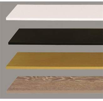 HQ Styles 12 x 48 in. Melamine Wood Shelf Bracket, Hickory