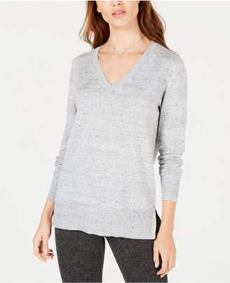 Maison Jules Cotton V-Neck Tunic Sweater