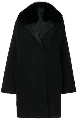 Guy Laroche fur trim coat