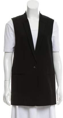 J Brand Collarless Long Vest Black Collarless Long Vest