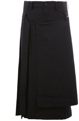 Yohji Yamamoto pleated midi skirt $1,580 thestylecure.com