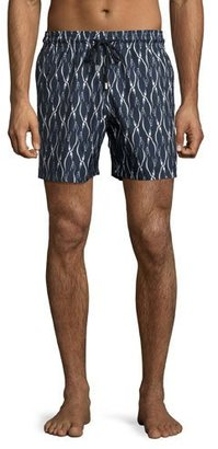 Vilebrequin Mahina Penguin Swim Trunks, Navy $250 thestylecure.com