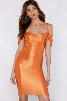 Nasty Gal Dress for Success Cowl Dress