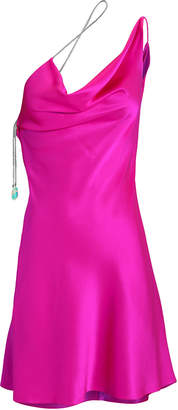 Cushnie Fuschia Chi Charmeuse Mini Dress