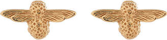 Olivia Burton 3D bee 18ct gold-plated stud earrings