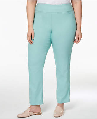 Charter Club Plus Size Cambridge Tummy-Control Pull-On Pants
