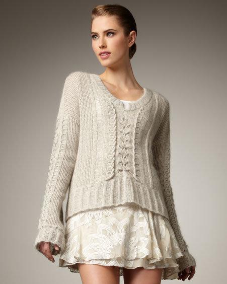 Nanette Lepore Sassy Stitched Pullover