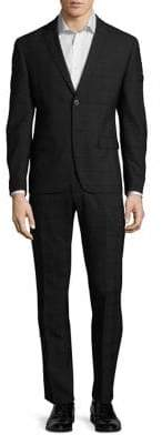 Calvin Klein Windowpane Plaid Suit