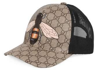 Gucci GG Supreme Bee Canvas Ball Cap