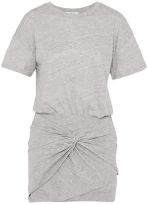 IRO Brelbloa Knotted Cotton-blend Jersey Mini Dress - Gray