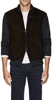 Fioroni Men's Insulated Suede & Wool-Blend Bomber Jacket