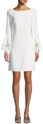 Elie Tahari Dori Boat-Neck Flared-Sleeve Sheath Dress