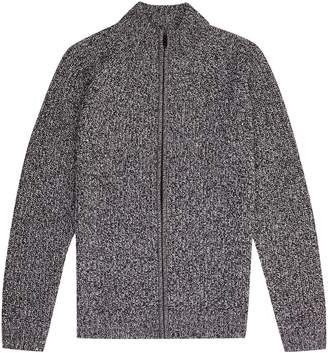 Burton Mens Salt and Pepper Zip Through Cardigan