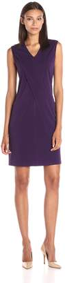 Lark & Ro Women's Draped Front Pocket Shift Dress