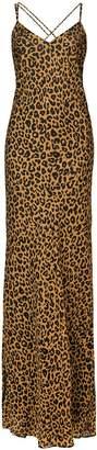 Mason by Michelle Mason leopard print bias gown