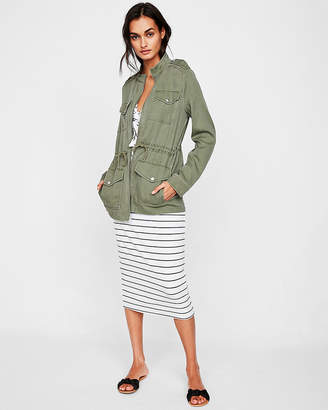 Express Petite Four Pocket Military Twill Jacket