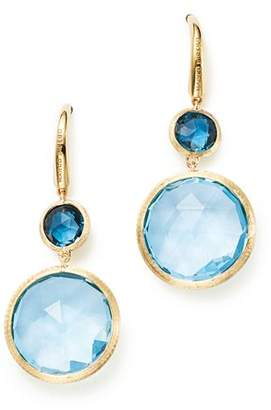 Marco Bicego 18K Yellow Gold Jaipur Mixed Blue Topaz Drop Earrings - 100% Exclusive