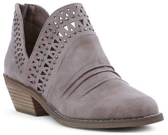 Report Darly Chop Out Stacked Heel Ankle Bootie