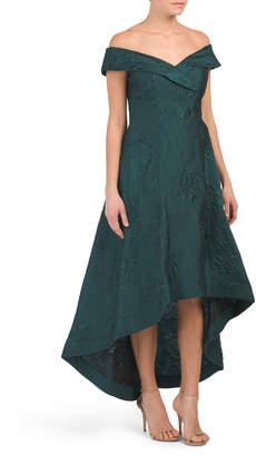 Jacquard Off Shoulder Hi-lo Dress