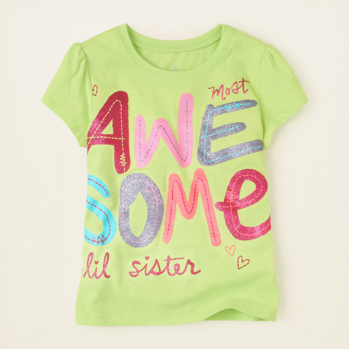Children's Place Awesome sis graphic tee