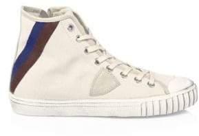 Philippe Model Striped Gare Hi-Top Sneakers