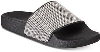 Madden-Girl Fancy Rhinestone Pool Slide Sandals