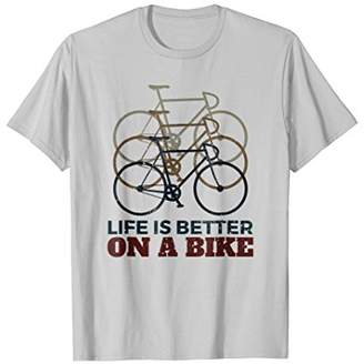 Mens Life Is Better On A Bike Cycling T-Shirt