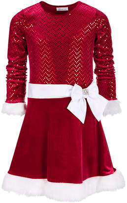Bonnie Jean Big Girls Drop Waist Santa Dress