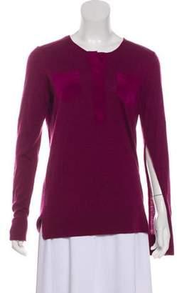 Loro Piana Cashmere Button-Up Tunic Magenta Cashmere Button-Up Tunic
