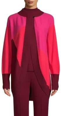 St. John Cashmere Intarsia Wrap Sweater