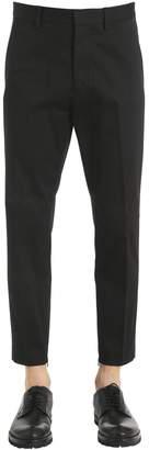 DSQUARED2 15cm Stretch Gabardine Pants W/ Zips