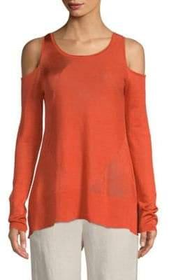 Donna Karan Cold-Shoulder Top