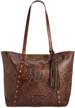 Patricia Nash Burnished Tooled Lace Benvenuto Tote $249 thestylecure.com