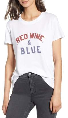Sub Urban Riot Sub_Urban Riot Red Wine & Blue Tee