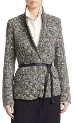 Loro Piana Macey Wild Herringbone Cashmere-Wool Jacket
