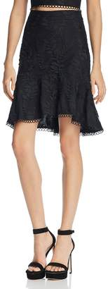 Lucy Paris Embroidered High/Low Skirt