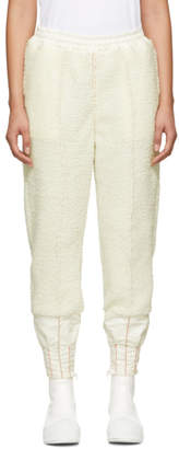 Undercover Off-White Sherpa Fleece Lounge Pants